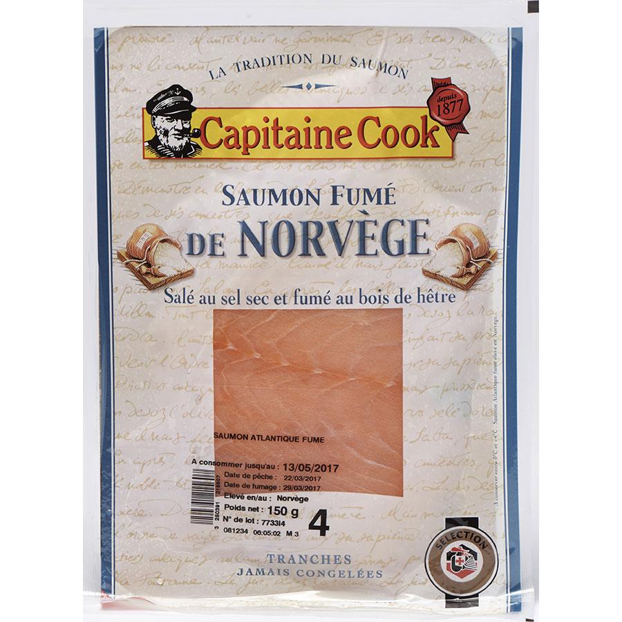 Capitaine Cook (Sélection Intermarché) Saumon fumé de Norvège -