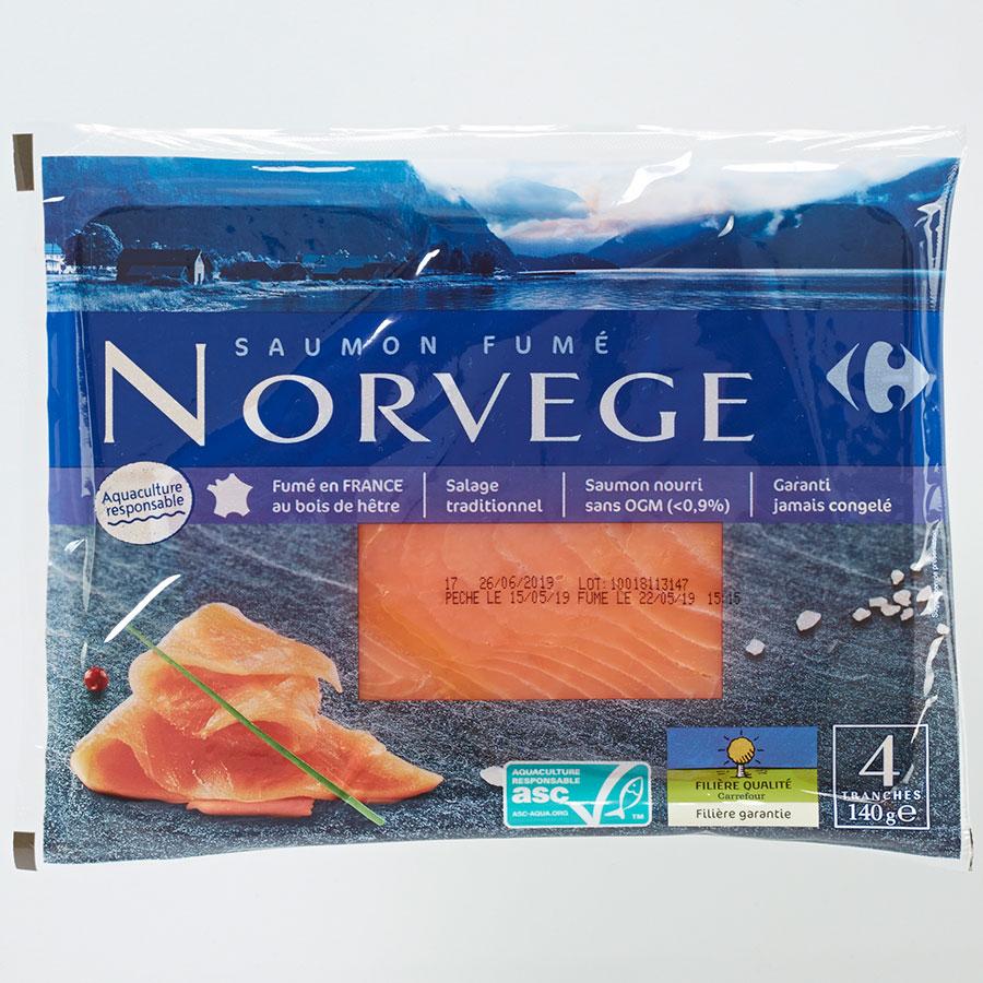 Carrefour Saumon fumé Norvège -