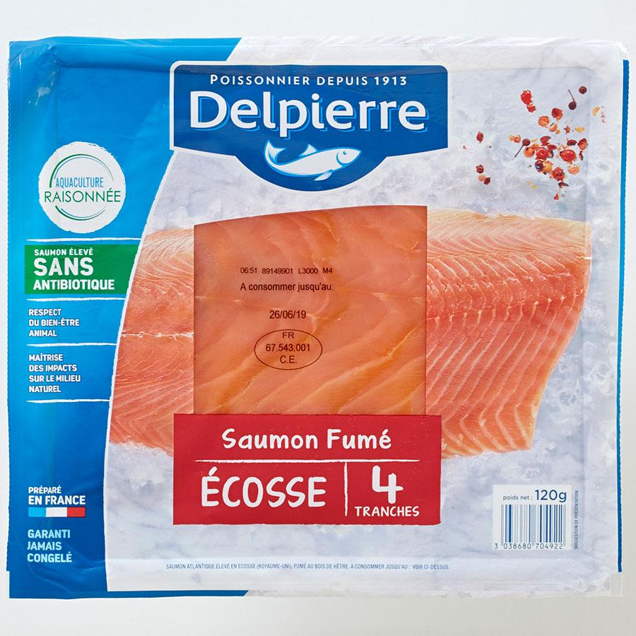 Delpierre Saumon fumé Écosse -