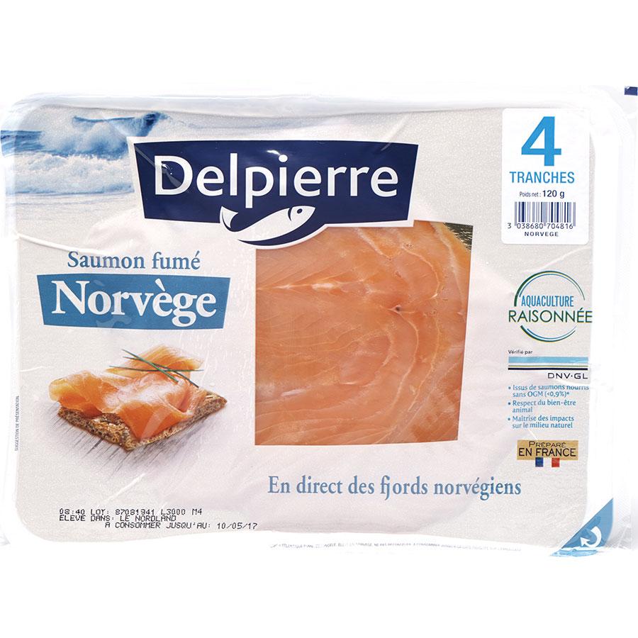 Delpierre Saumon fumé Norvège -