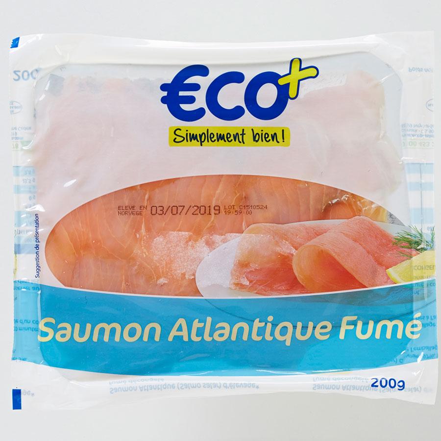ECO+ (E. Leclerc) Saumon Atlantique fumé -