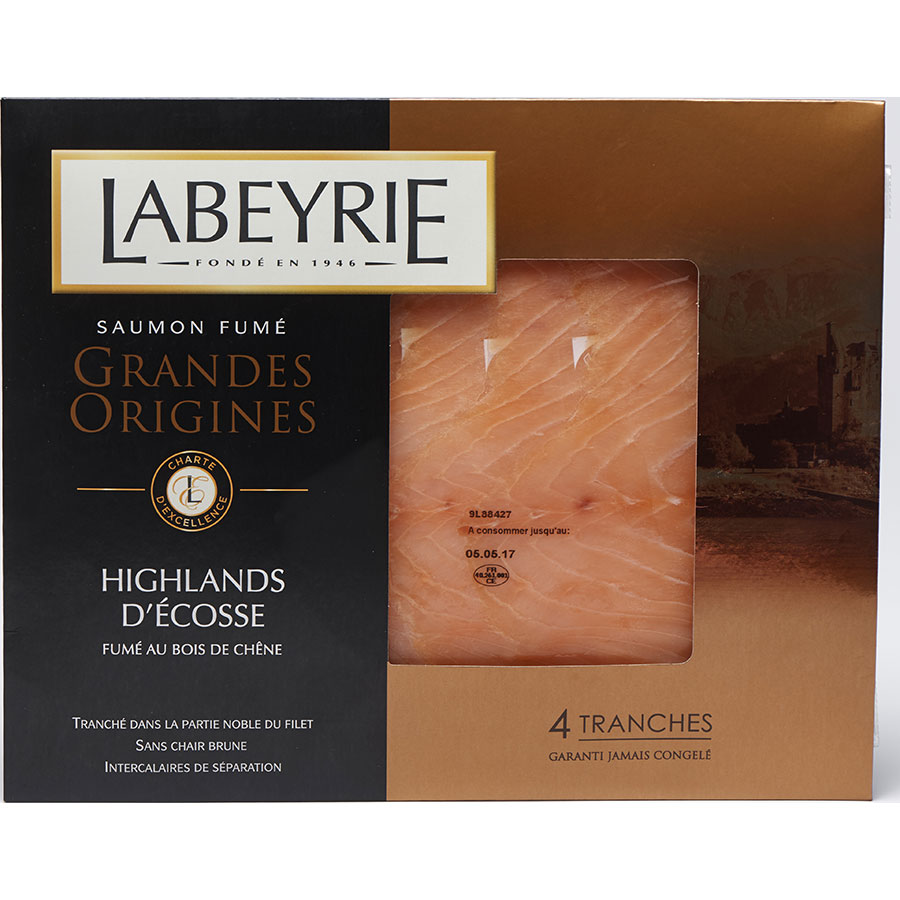 Labeyrie Saumon fumé Grandes Origines, Highlands d'Écosse -