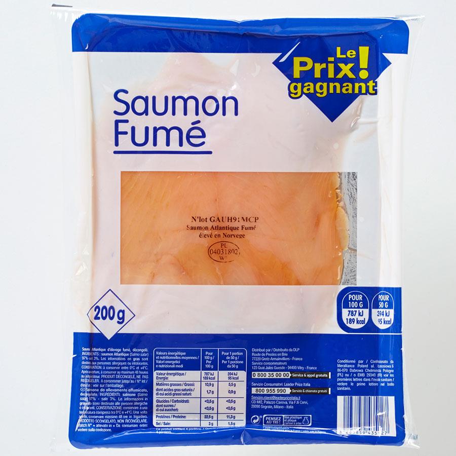 Le Prix gagnant! (Leader Price) Saumon fumé -