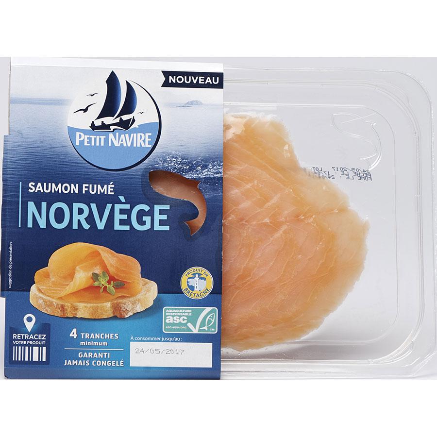 Petit Navire Saumon fumé Norvège -