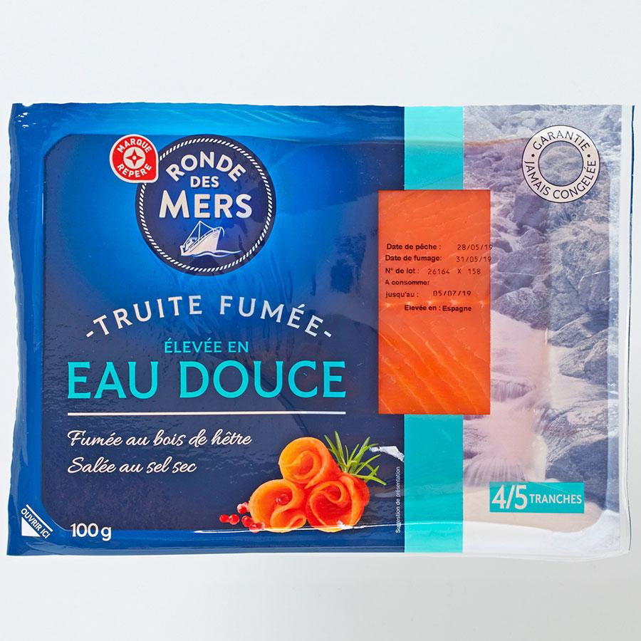 Ronde des Mers (Marque Repère E.Leclerc) Truite fumée élevée en eau douce -