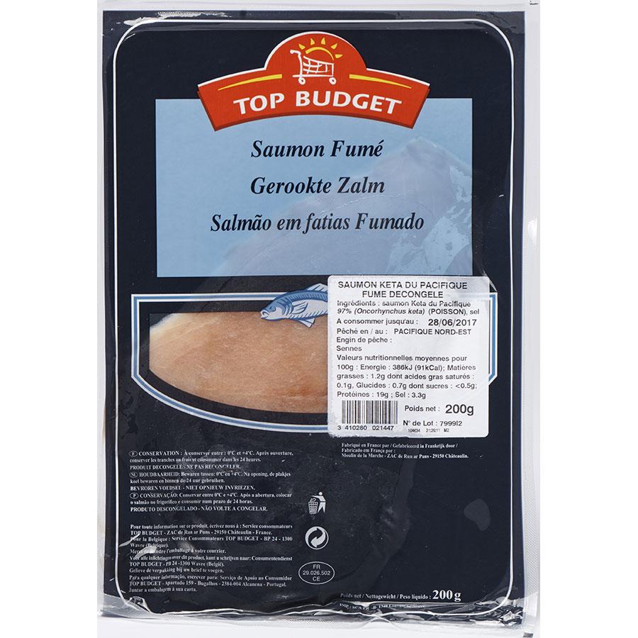 Top budget (Intermarché) Saumon sauvage du Pacifique fumé -
