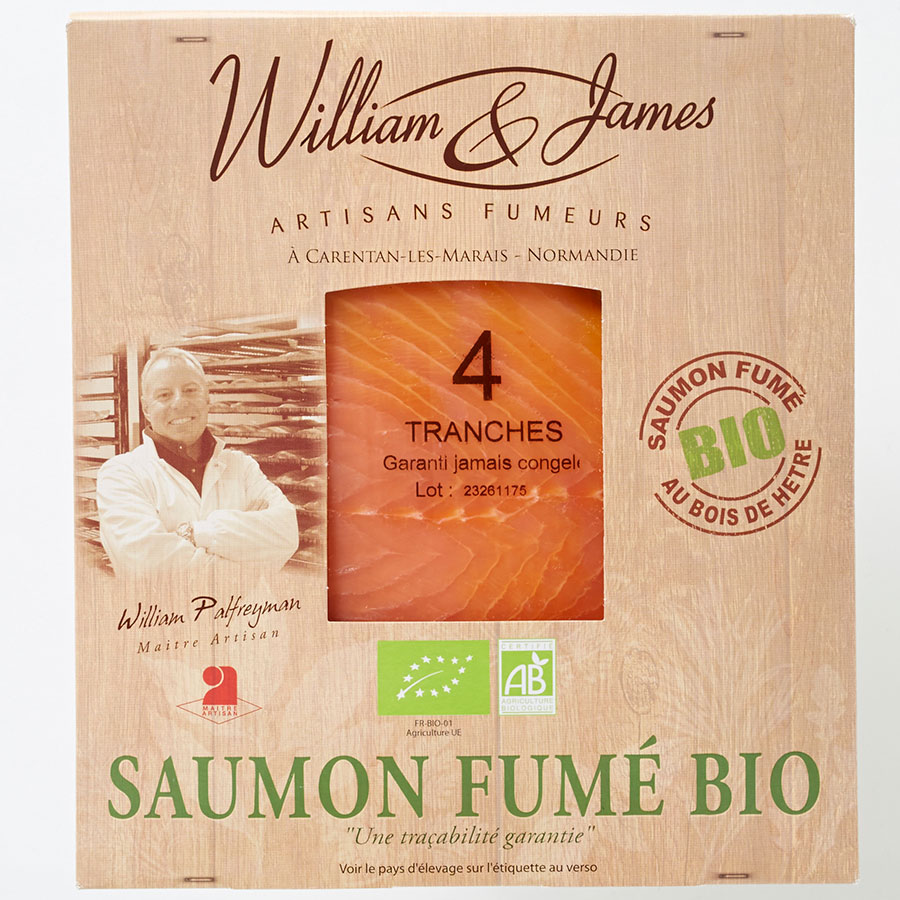 William & James Saumon fumé bio -