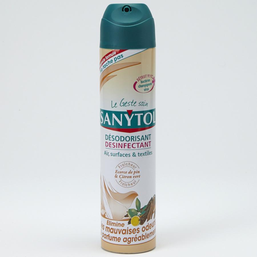 Sanytol Désodorisant, désinfectant - Écorce de pin et citron vert -