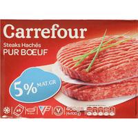 Carrefour Steaks hachés 5% MG