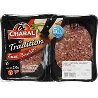 Charal  Steaks hachés 5% MG, le tradition façon bouchère