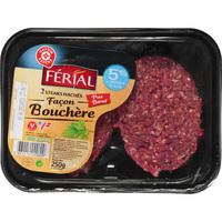 Férial Steaks hachés 5% MG, façon bouchère (Marque Repère)