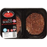 L'étal du boucher (Lidl) Steaks hachés 5% MG