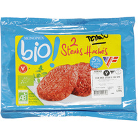 Monoprix Steaks hachés 5% MG, bio