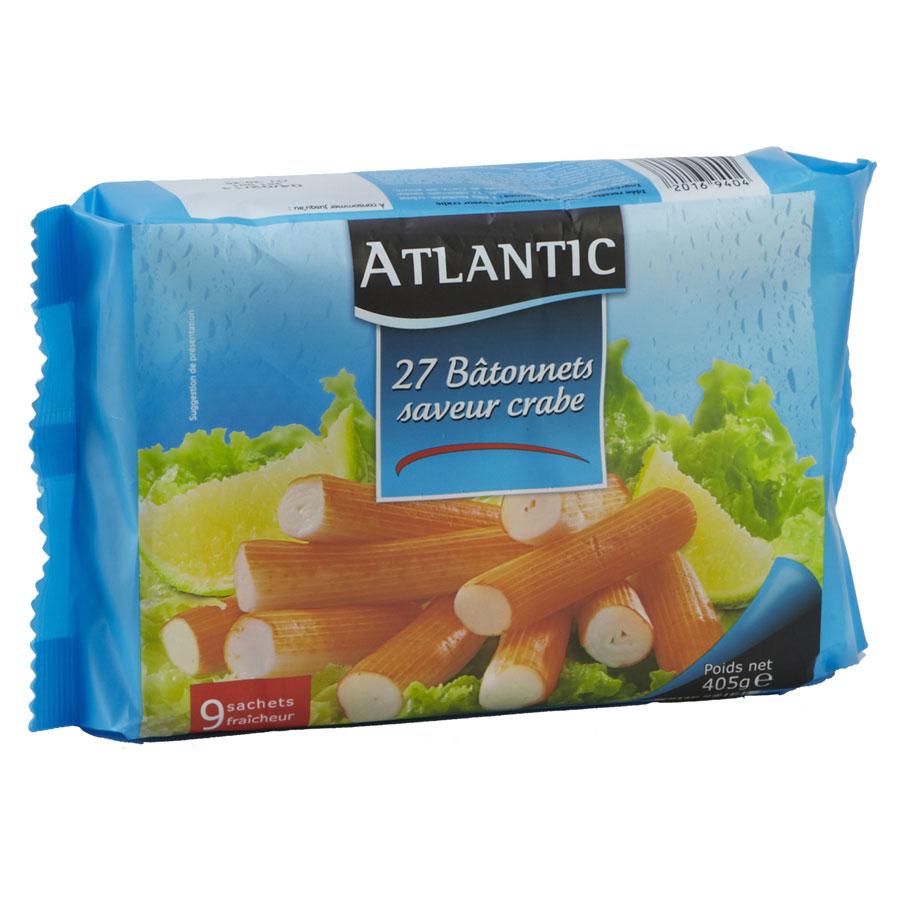 Atlantic (acheté chez Lidl ) Bâtonnets de surimi saveur crabe  -
