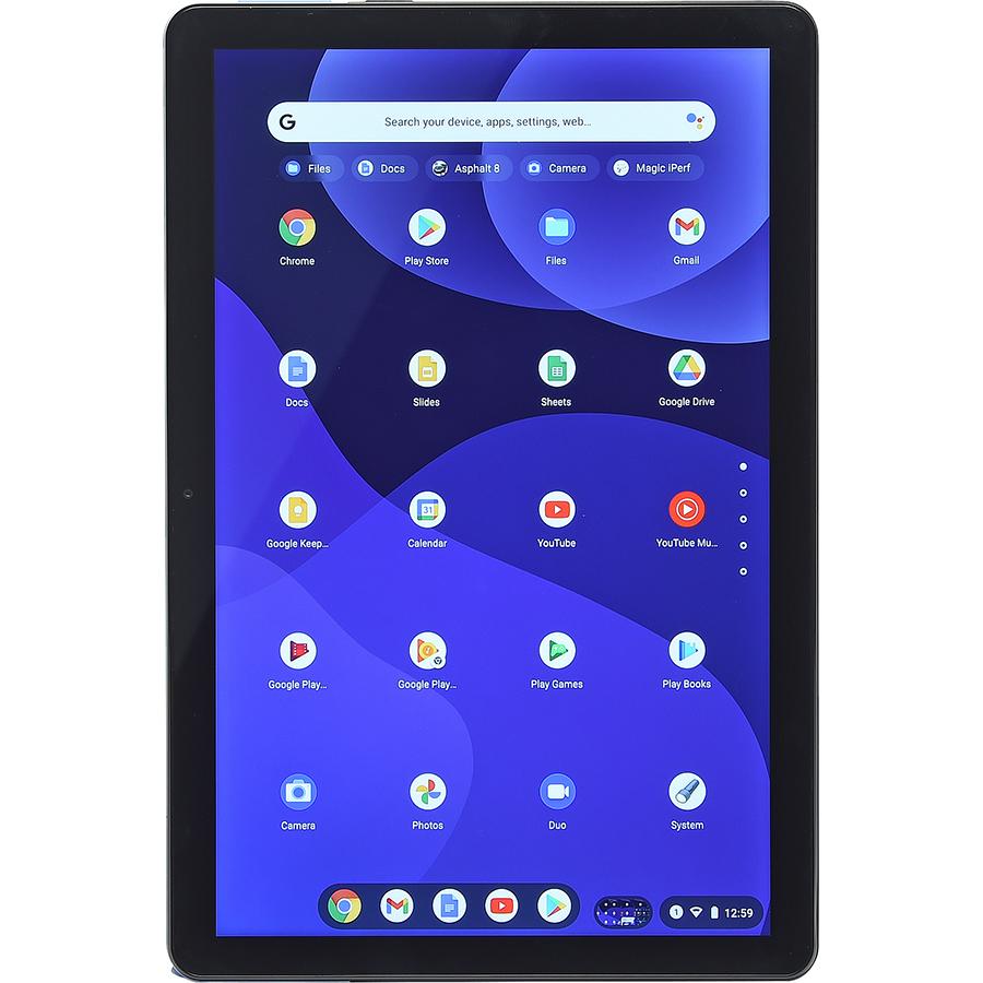 Lenovo Ideapad Duet Chromebook - Vue de face à la verticale