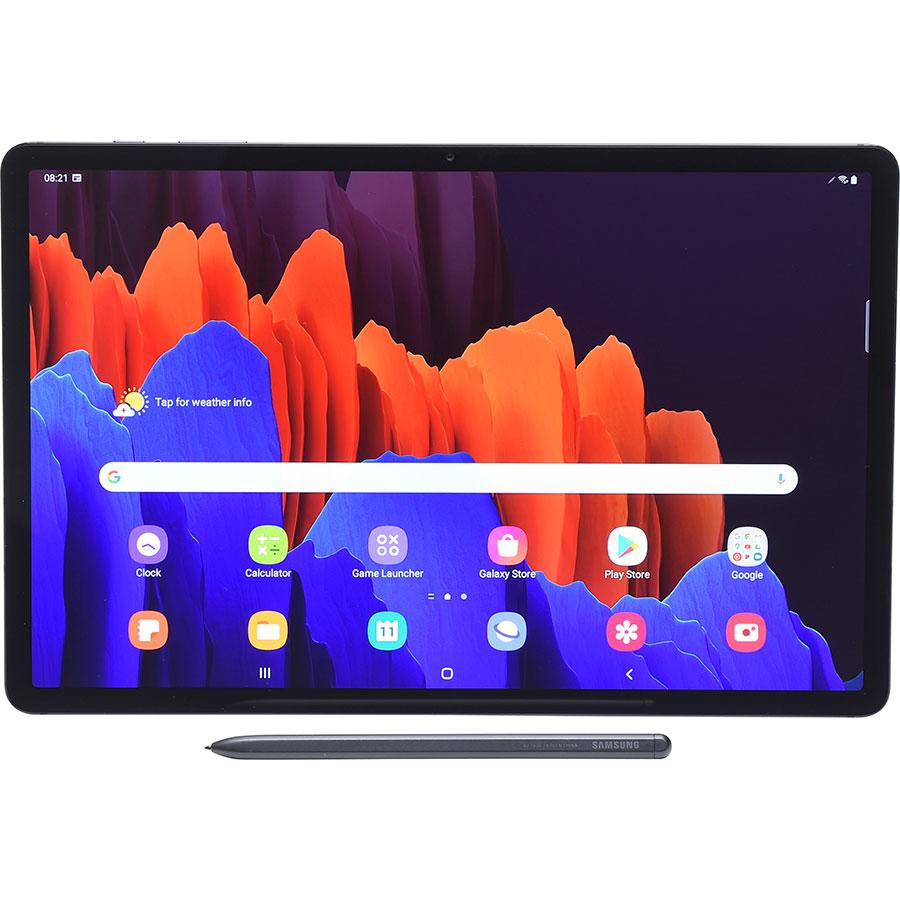 Samsung Galaxy Tab S7 + - Vue à l'horizontale avec le stylet fourni