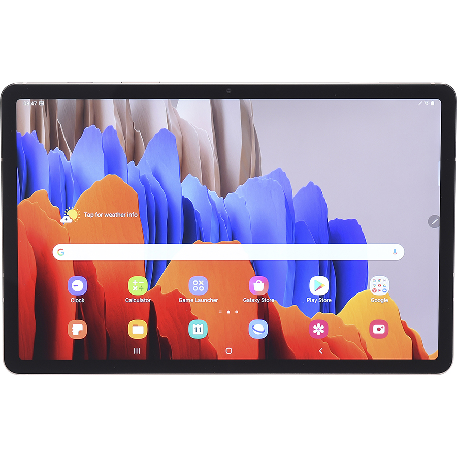 Samsung Galaxy Tab S7 - Vue de face à l'horizontale