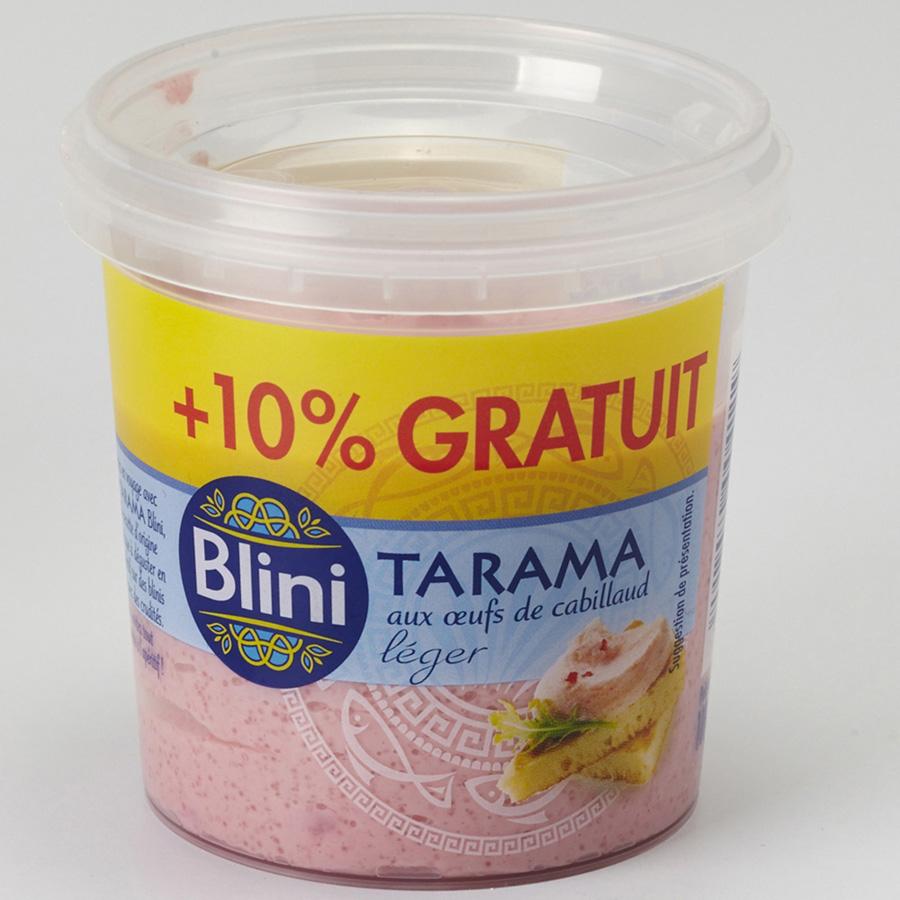 Blini Tarama aux œufs de cabillaud léger -