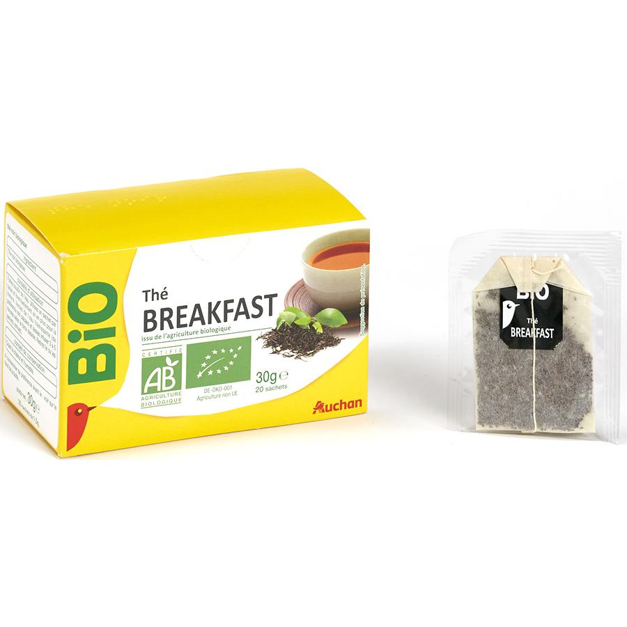 Auchan bio Thé breakfast -