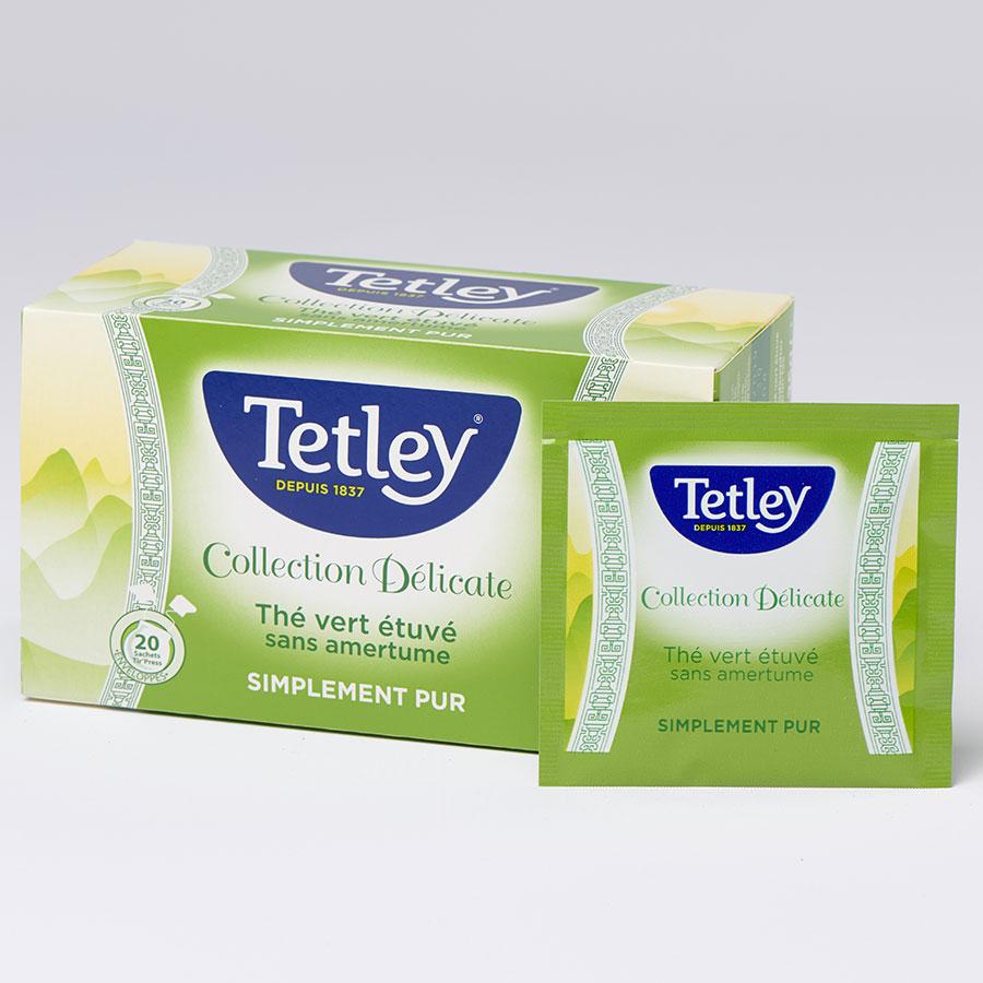 Tetley Collection Délicate thé vert étuvé simplement pur -