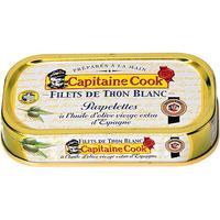 Capitaine Cook Filet de thon blanc, parpelettes, produit en Bretagne