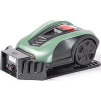 Bosch Indego S+ 400 - Tondeuse robot sur sa station de charge