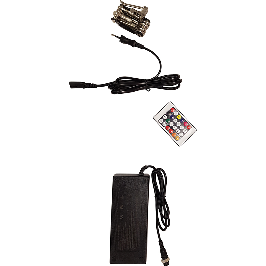 MiniMotors Dualtron Mini 52 V 13 Ah - La trottinette est livrée avec un outil multifonction, le chargeur, et une télécommande qui permet d'allumer des LED pour ne pas passer inaperçu !
