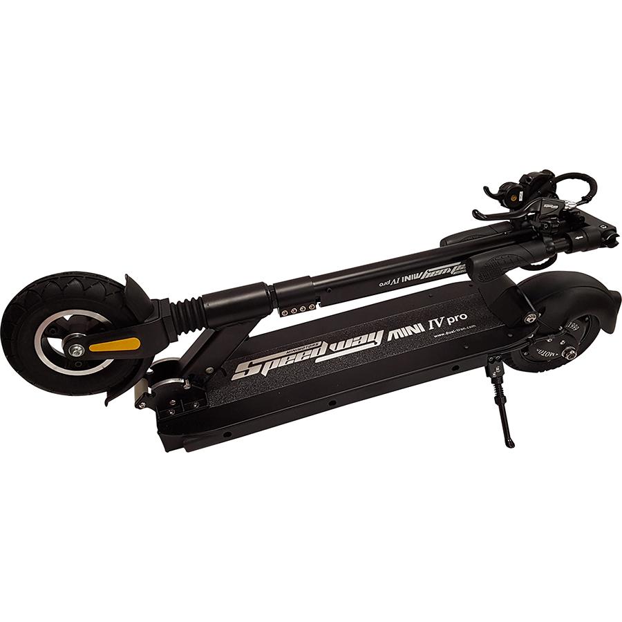 MiniMotors Speedway Mini Pro Lite - La trottinette une fois pliée.