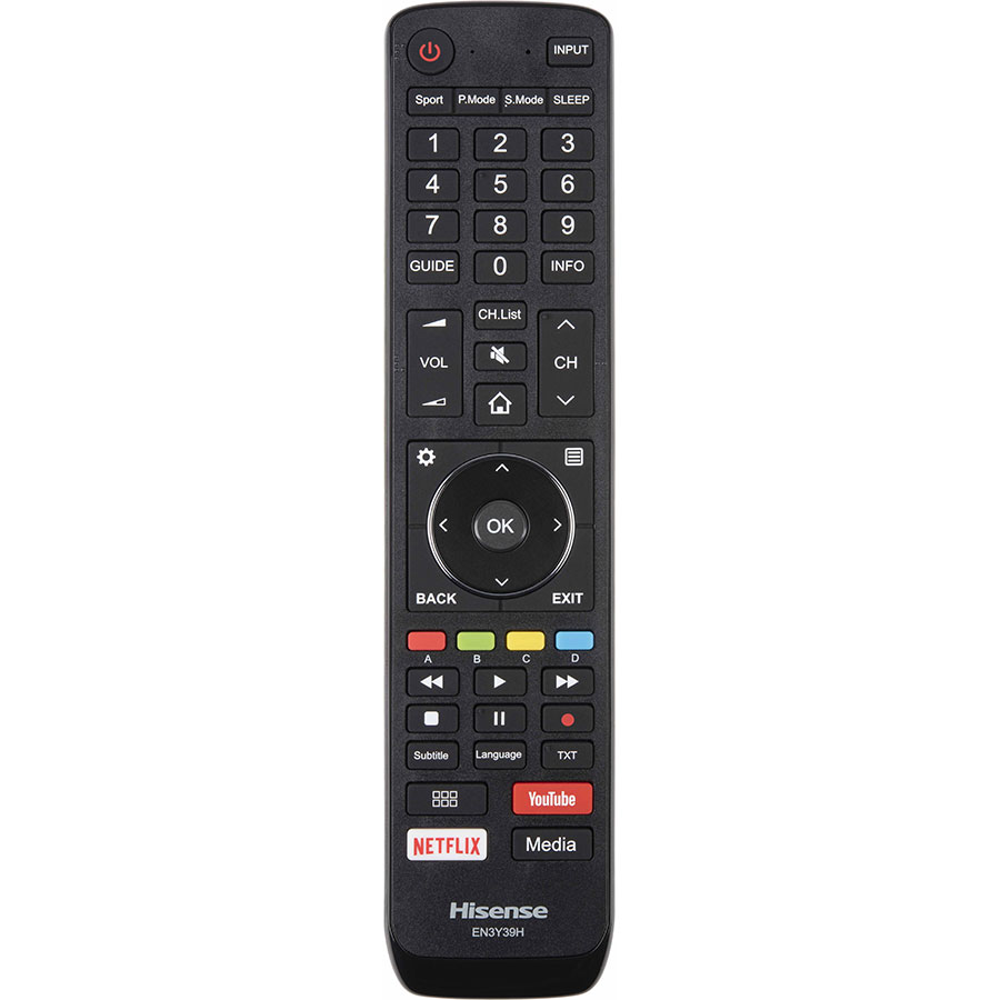 HiSense H55U7A - Télécommande