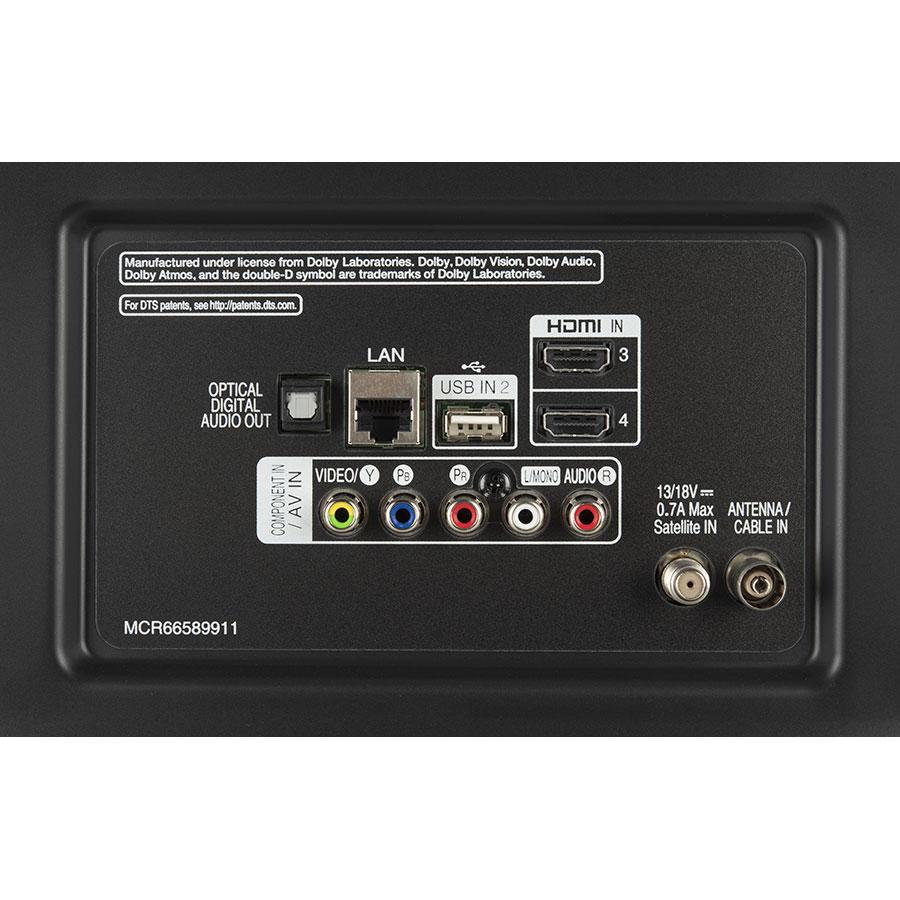LG 50UK6500PLA - Connectique
