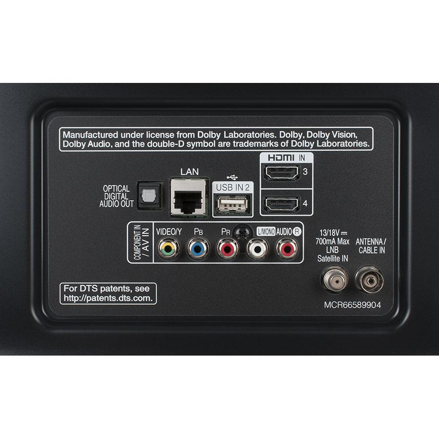 LG 65UJ651V - Connectique