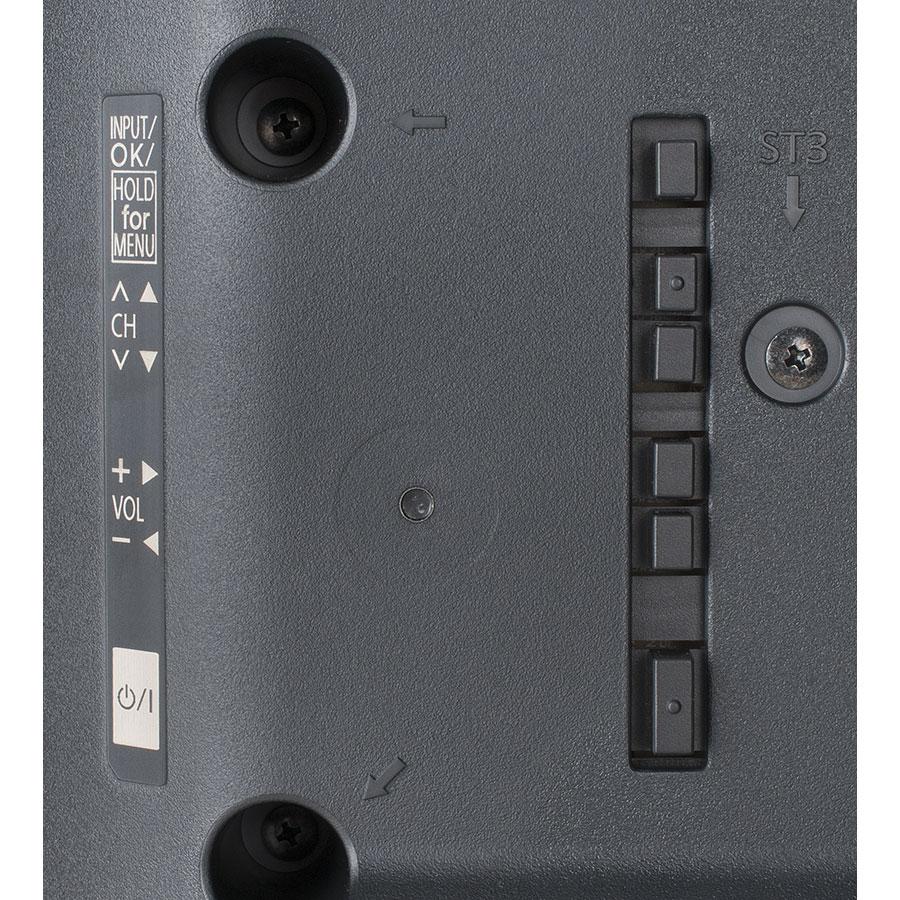 Panasonic TX-40ES400E - Boutons de commandes situés sur le téléviseur