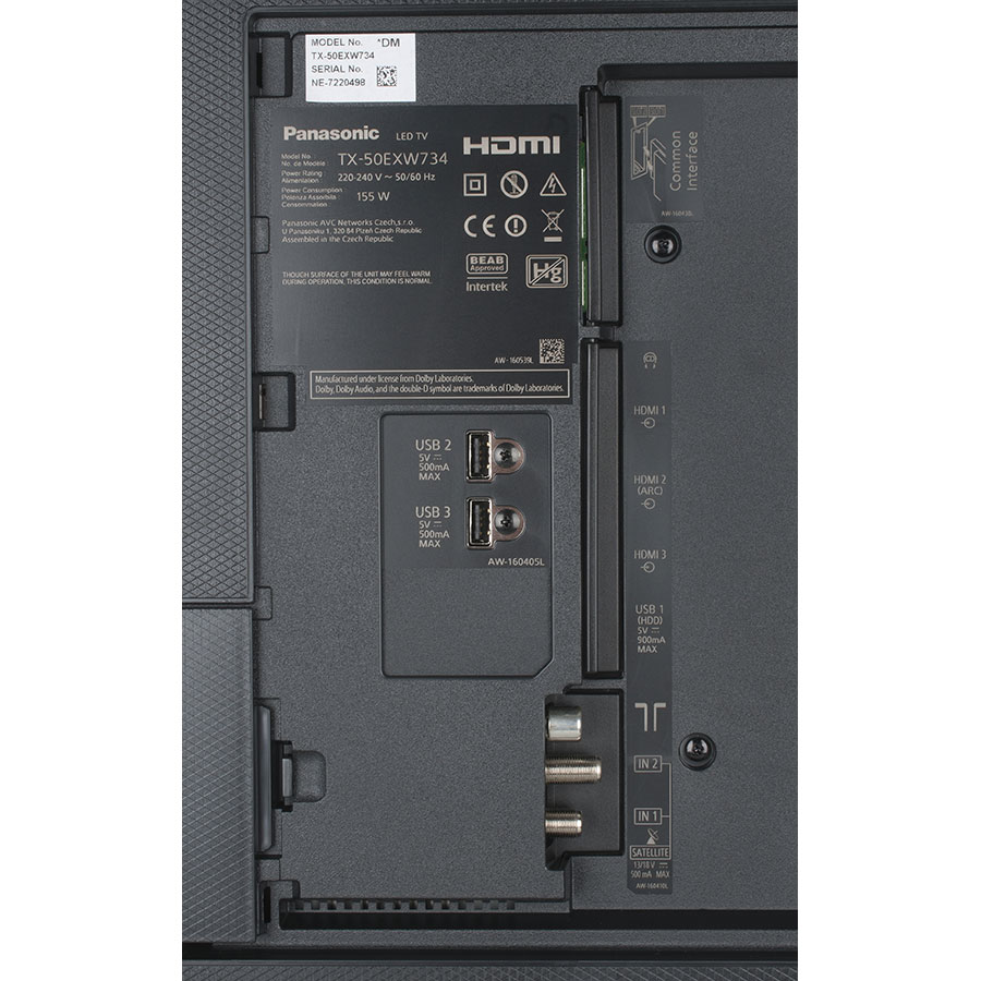 Panasonic TX-50EX700E - Connectique