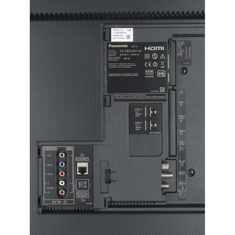 Panasonic TX-58EX700E - Connectique