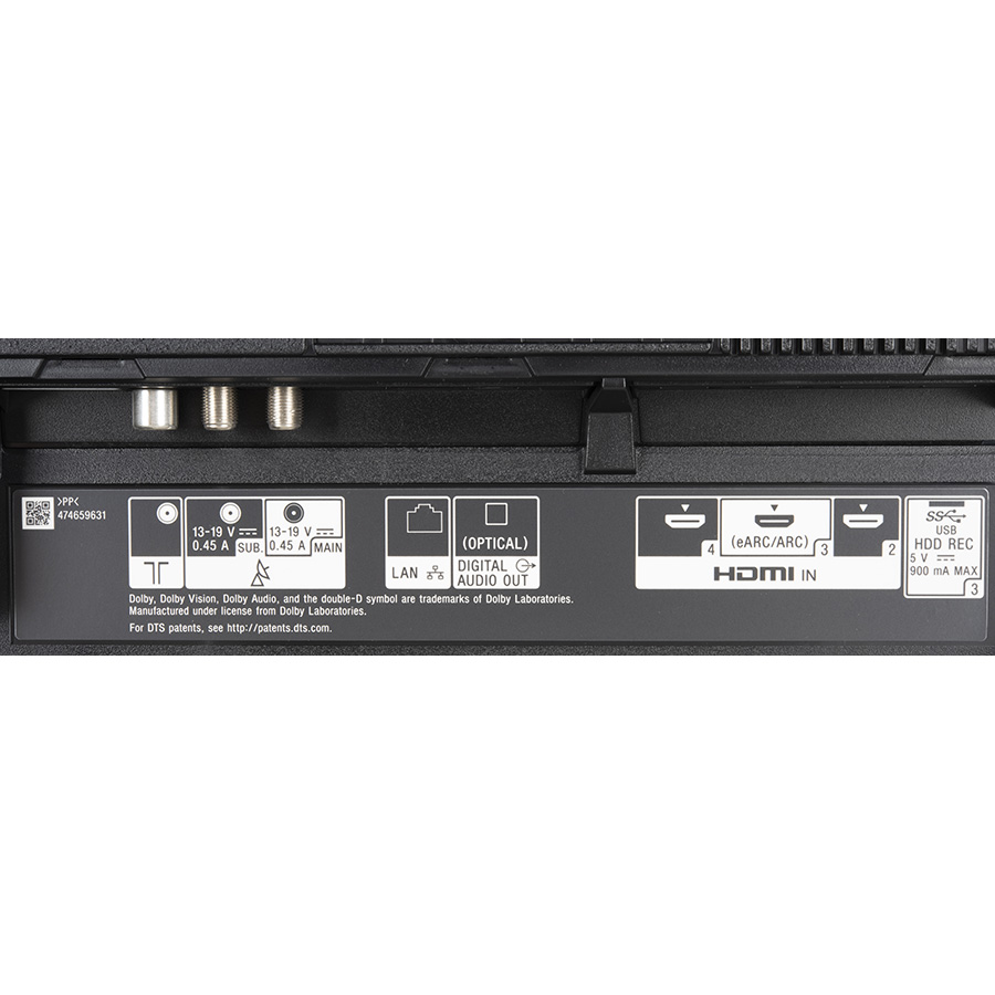 Sony KD-55AG9 - Connectique