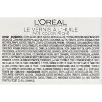 L'Oréal Le vernis à l'huile 550 - Liste des ingrédients
