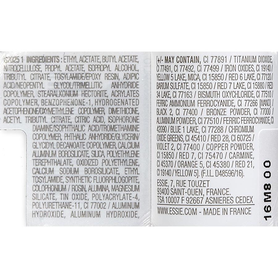 Essie Russian roulette 61 - Liste des ingrédients