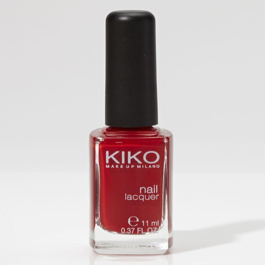 Kiko Nail lacquer 239 vermillon red - Vue principale