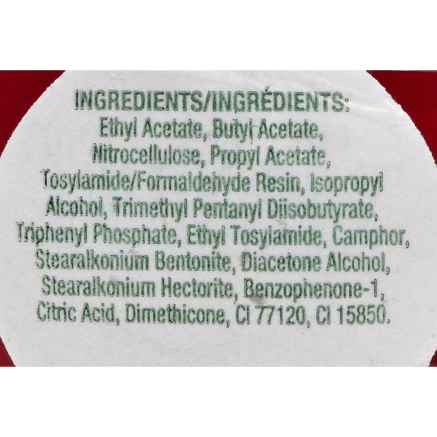 O.P.I Nail lacquer Big apple red NL N 25 - Liste des ingrédients