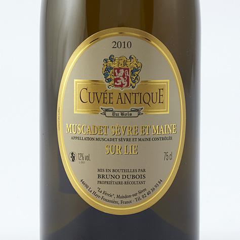 Cuvée antique du bois, vieilles vignes 2010, Bruno Dubois  -