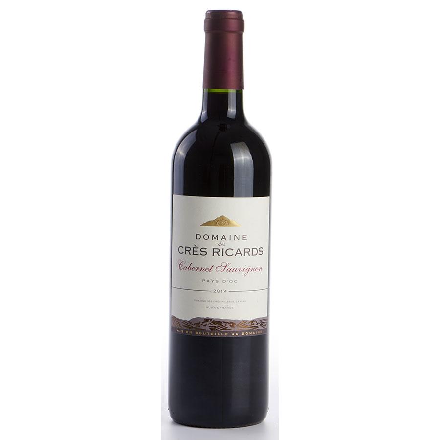 IGP Pays-d'Oc Domaine des Crès Ricards, cabernet sauvignon 2014   -