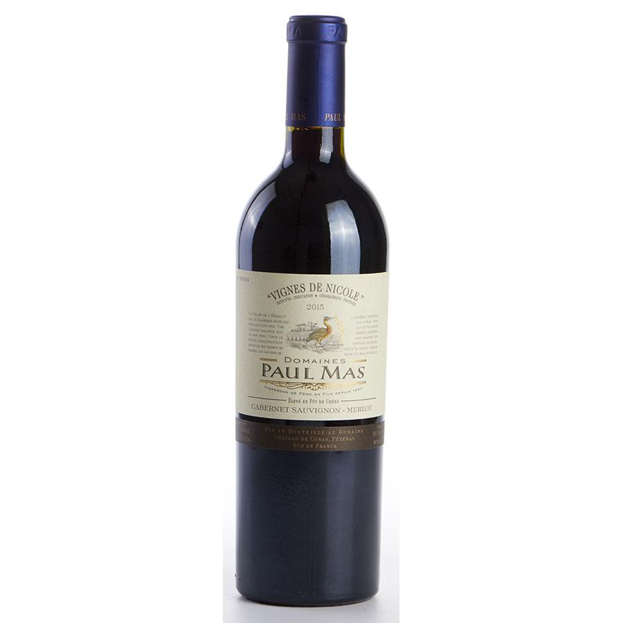 IGP Pays-d'Oc Jean-Claude Mas, Vignes de Nicole, cabernet sauvignon, merlot, 2015   -